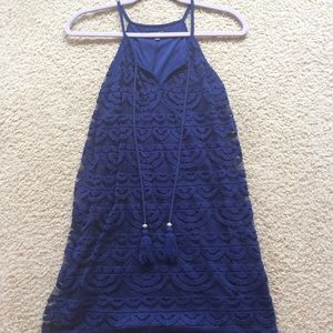 Deep blue mini summer dress